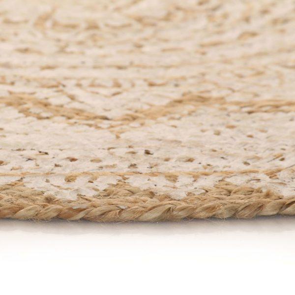 Teppich Jute Geflochten Bedruckt 150 cm Rund