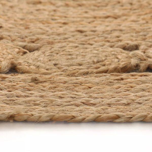 Teppich Flechtmuster Jute 120 cm Rund