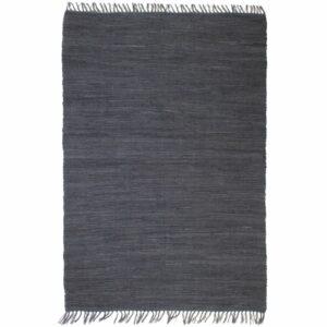 Handgewebter Chindi-Teppich Baumwolle 160×230 cm Anthrazit