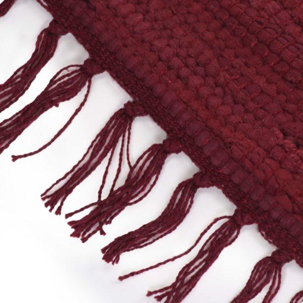 Handgewebter Chindi-Teppich Baumwolle 200×290 cm Weinrot