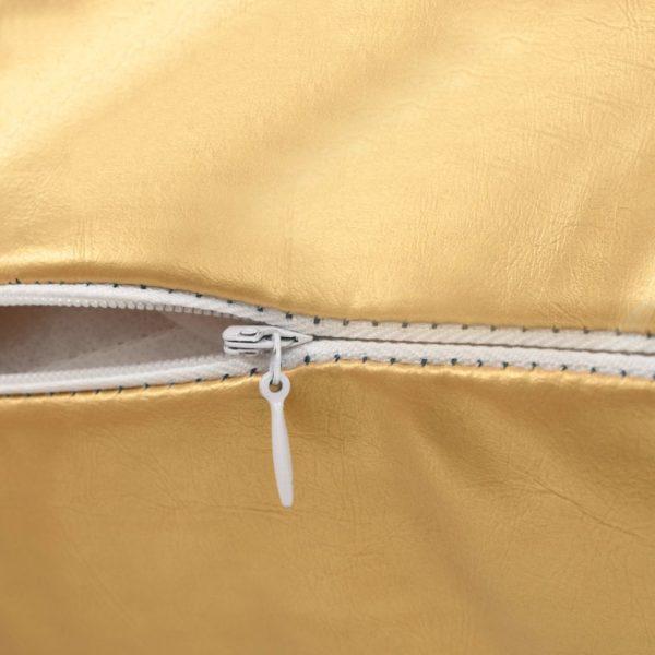Kissen-Set 2 Stk. PU 40 x 60 cm Golden