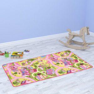 Spielmatte Schlingenpol 80 x 120 cm Süßes Stadtmuster