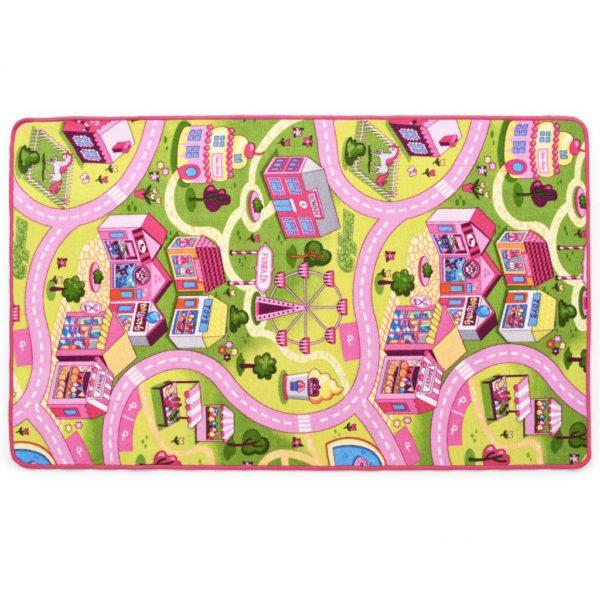 Spielmatte Schlingenpol 133 x 190 cm Süßes Stadtmuster