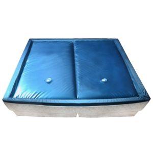 Wasserbettmatratzen-Set mit Einlage + Trennwand 200 x 200 cm F3