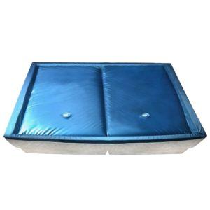 Wasserbettmatratzen-Set mit Einlage + Trennwand 200 x 220 cm F3