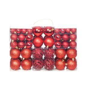 100-tlg. Weihnachtskugel-Set 6 cm Rot