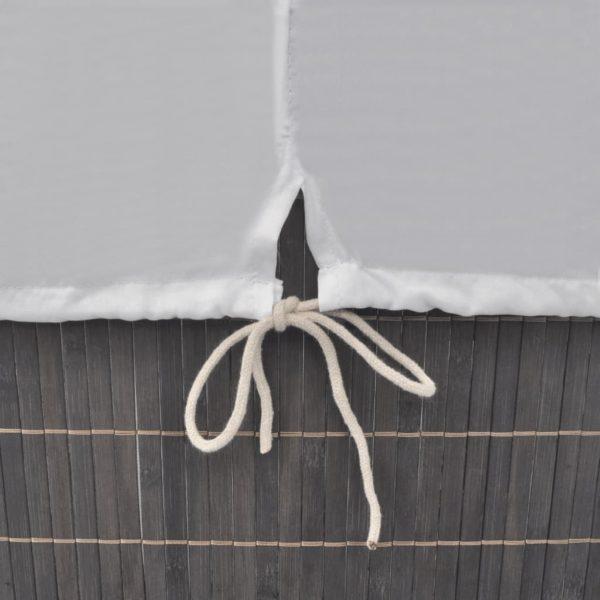 Wäschekorb aus Bambus Rechteckig Dunkelbraun