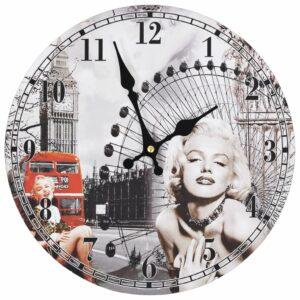 Wanduhr Vintage Marilyn Monroe 30 cm