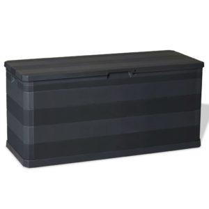Gartenbox Schwarz 117×45×56 cm