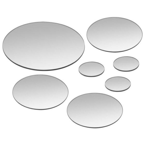 7-teiliges Wandspiegelset Rundglas