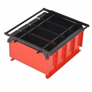 Papierbrikettpresse Stahl 38 x 31 x 18 cm Schwarz und Rot