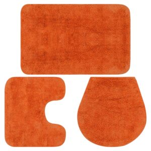 Badematten-Set 3-tlg. Stoff Orange