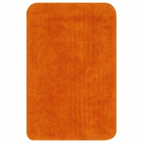 Badematten-Set 3-tlg. Stoff Orange