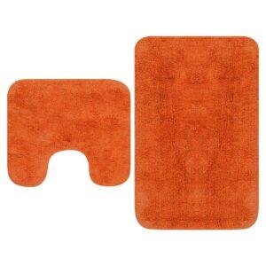 Badematten-Set 2-tlg. Stoff Orange