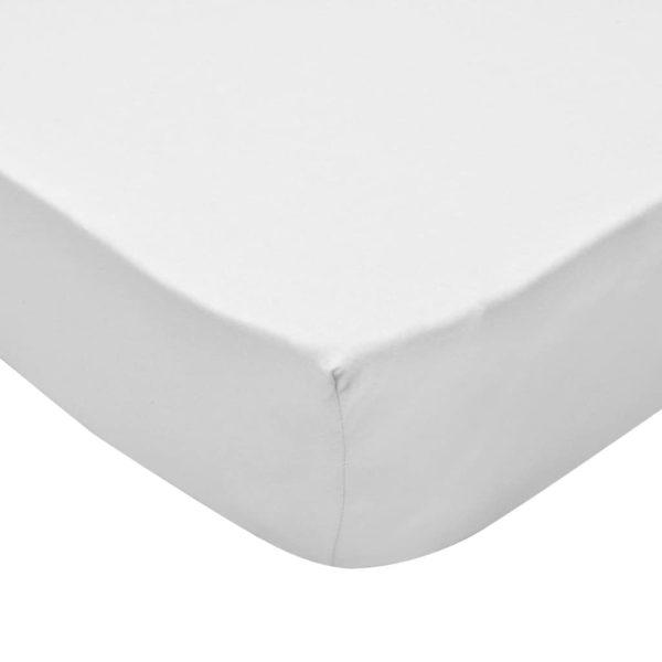 Spannbettlaken Wasserbett 2 Stk. 180×200 Baumwolljersey Weiß