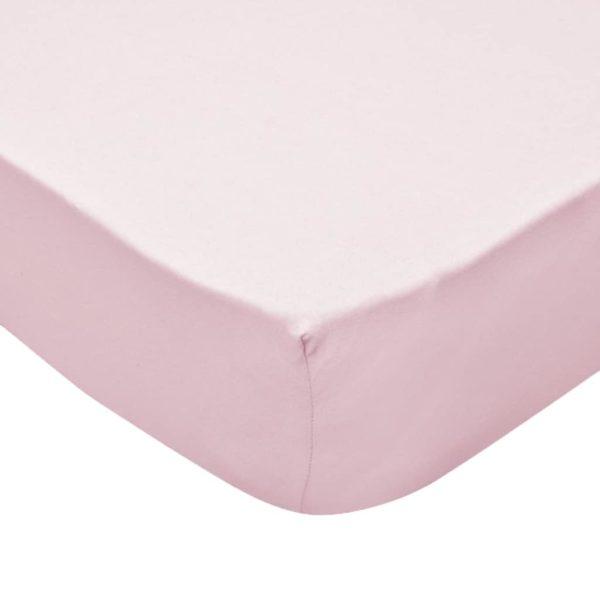 Spannbettlaken Kinderbett 4 Stk. 70×140 cm Baumwolljersey Rosa
