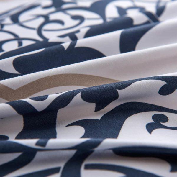 Bettwäsche-Set Klassisches Design Marineblau 200×200/80×80 cm
