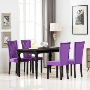 Esszimmerstühle 4 Stk. Violett Samt