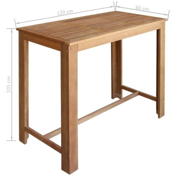 Bartisch und Stuhl-Set 5-tlg. Akazienholz Massiv