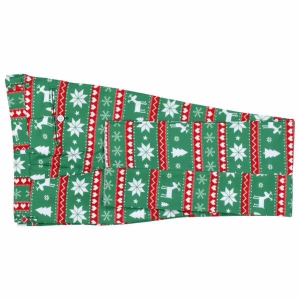 2-tlg. Weihnachtsanzug mit Krawatte Herren Größe 46 Grün
