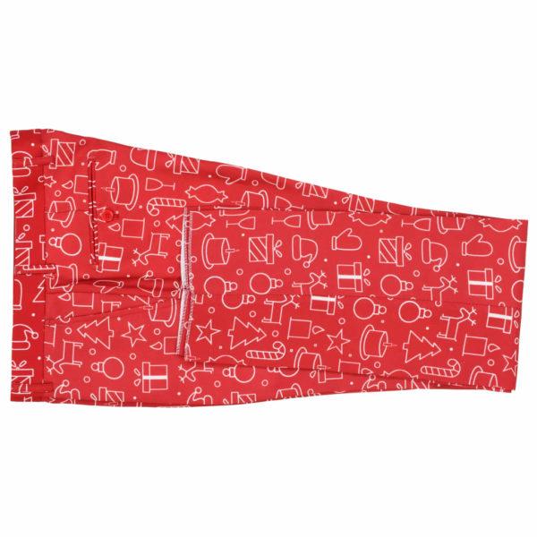 2-tlg. Herren Weihnachtsanzug mit Krawatte Gr. 46 Rot