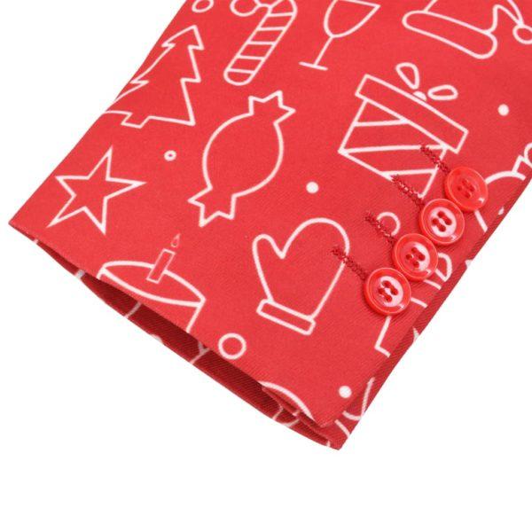 2-tlg. Weihnachtsanzug mit Krawatte Herren Größe 52 Rot