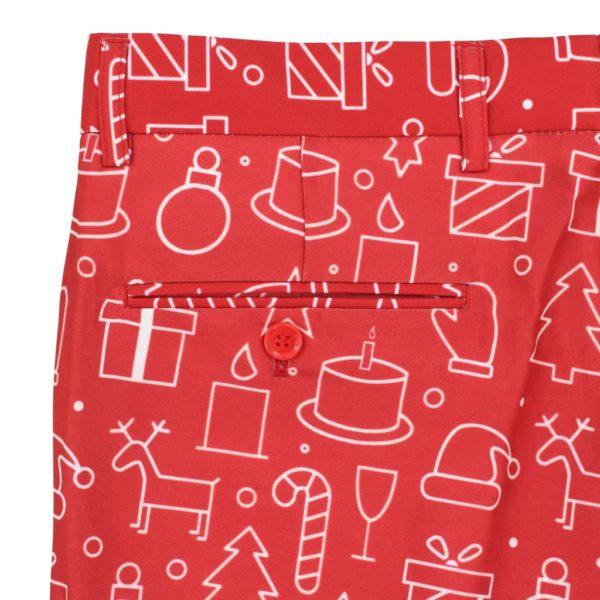 2-tlg. Weihnachtsanzug mit Krawatte Herren Größe 54 Rot