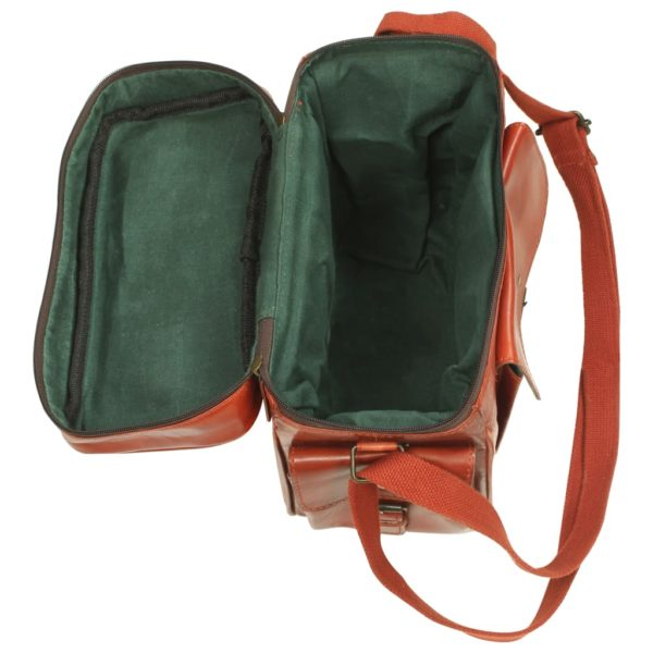 Kameratasche für DSLR Echtleder Hellbraun