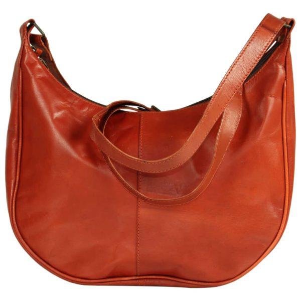 Damenhandtasche Hellbraun Echtleder