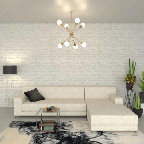 Wandpaneele 12 Stück 3D 0,8 x 0,625 m 6 m²