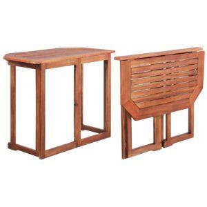 Bistrotisch 90x50x75 cm Akazie Massivholz