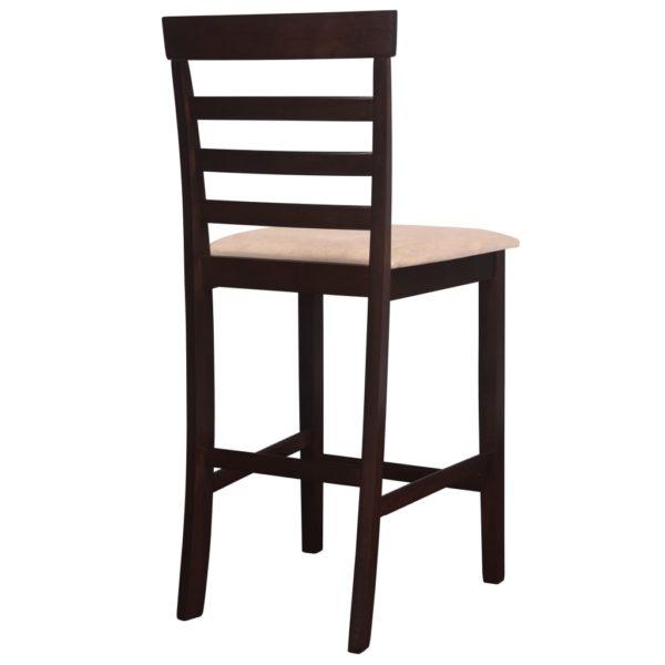 Bartisch mit Stühlen 5-tlg. Massivholz Dunkelbraun