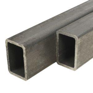 Baustahlrohre 4 Stk. Rechteckiges Kastenprofil 1 m 40x30x2 mm