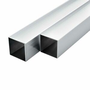 Aluminium-Vierkantrohre 6 Stk. Quadratisch 1 m 40x40x2 mm