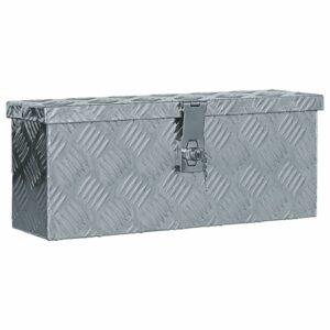 Aluminiumkiste 48,5 x 14 x 20 cm Silbern