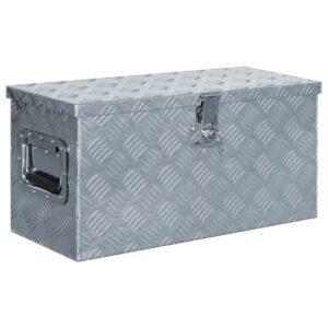 Aluminiumkiste 61,5 x 26,5 x 30 cm Silbern