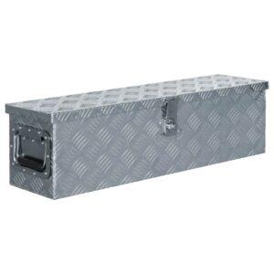 Aluminiumkiste 80,5×22×22 cm Silbern