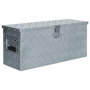 Aluminiumkiste 76,5×26,5×33 cm Silbern
