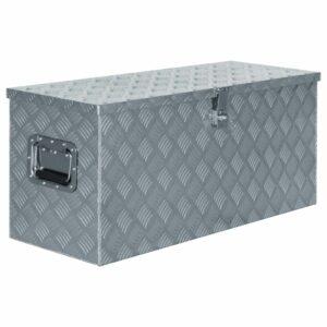 Aluminiumkiste 90,5×35×40 cm Silbern