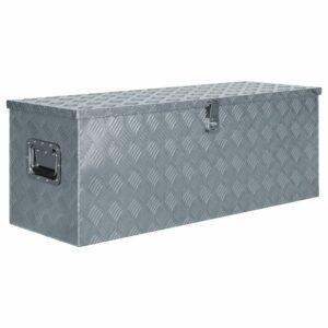Aluminiumkiste 110,5×38,5×40 cm Silbern