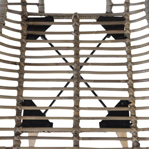 Esszimmerstühle 4 Stk. Braun Natürliches Rattan