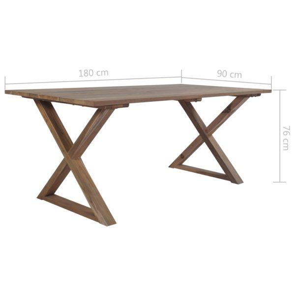 Gartentisch 180x90x76 cm Recyceltes Teak Massiv