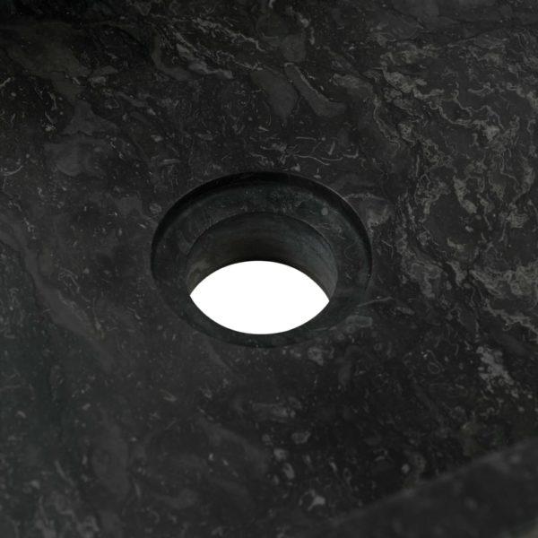 Waschbecken 45 x 30 x 12 cm Marmor Schwarz