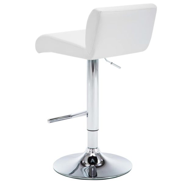 Barstühle 2 Stk. Weiß Kunstleder