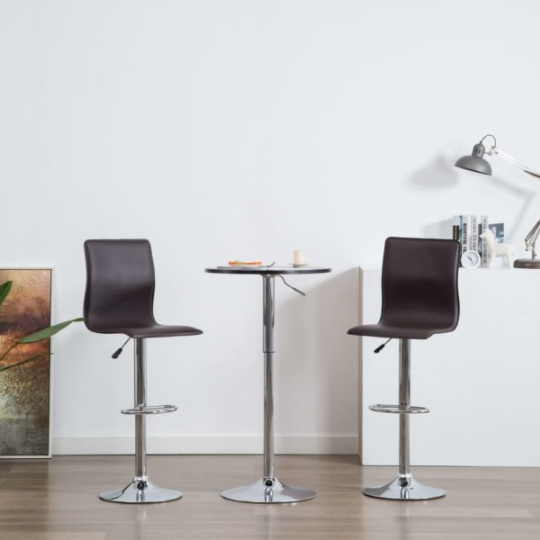 Barstühle 2 Stk. Braun Kunstleder