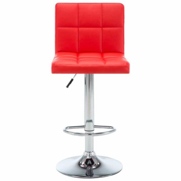 Barstühle 2 Stk. Rot Kunstleder