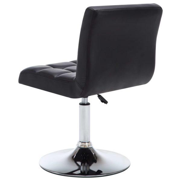 Drehbare Esszimmerstühle 4 Stk. Schwarz Kunstleder