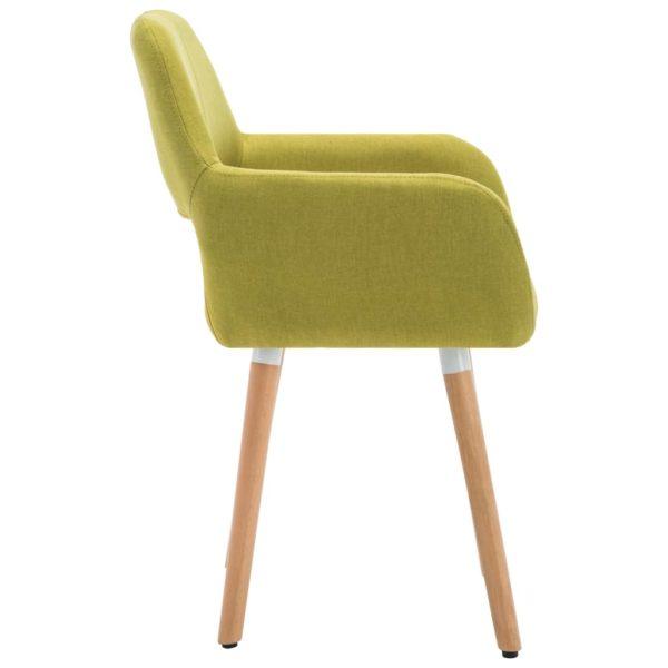 Esszimmerstühle 2 Stk. Grün Stoff