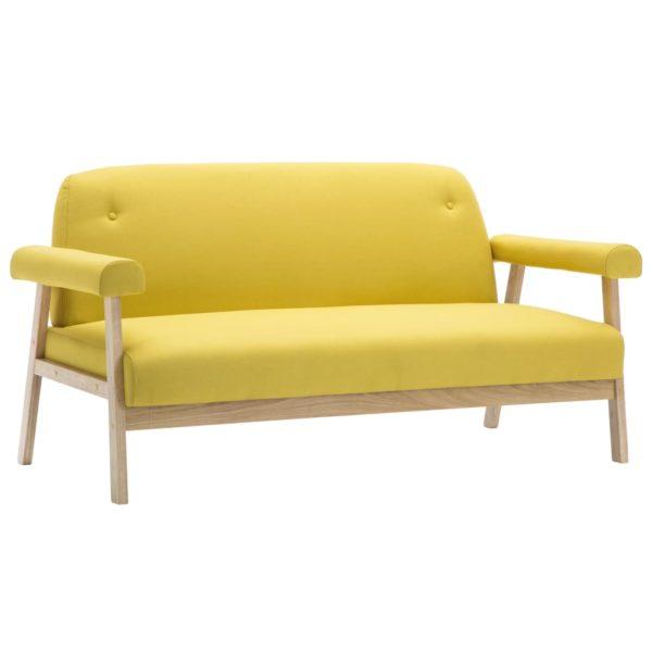 3-Sitzer-Sofa Stoff Gelb