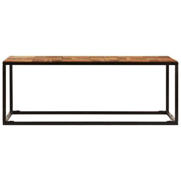 Couchtisch 110 x 40 x 60 cm Massivholz Akazie und Stahl